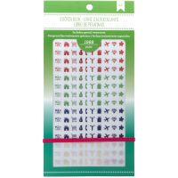 """American Crafts Planner Stickers 12-Page Book 4.75""""X9"""" NOTM338202"""
