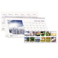 House of Doolittle Recycled Scenic Photos Desk Tent Monthly Calendar, 8 1/2 x 4 1/2, 2019 HOD3649