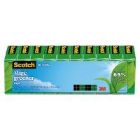 """Scotch Magic Greener Tape, 3/4"""" x 900"""", 1"""" Core, Clear, 10/Pack MMM81210P"""