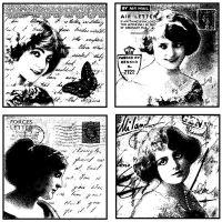 """Crafty Individuals Unmounted Rubber Stamp 4.75""""X7"""" Pkg NOTM082600"""