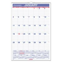 AT-A-GLANCE Monthly Wall Calendar with Ruled Daily Blocks, 15 1/2 x 22 3/4, White, 2019 AAGPM328