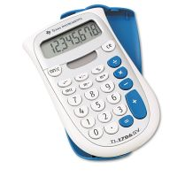 Texas Instruments TI-1706SV Handheld Pocket Calculator, 8-Digit LCD TEXTI1706SV