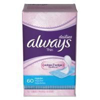 Always Dailies Thin Liners, Regular, 60/Pack, 12 Pack/Carton PGC08282