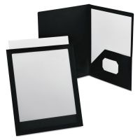 Oxford ViewFolio Polypropylene Portfolio, 50-Sheet Capacity, Black/Clear OXF57442