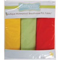 "Babyville PUL Waterproof Diaper Fabric 21""X24"" Cuts 3/Pkg NOTM140174"