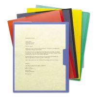 Smead Organized Up Poly Opaque Project Jackets, Letter, Assorted, 5/Pack SMD85740
