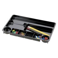 Universal Recycled Drawer Organizer, Nine Compartments, Plastic, 14 x 9 x 1 1/8 UNV08120