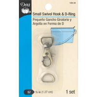 Dritz Small Swivel Hook & D-Ring 1/Set NOTM090389