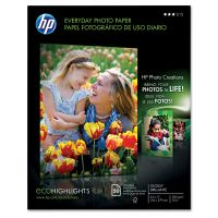 HP Everyday Photo Paper, Glossy, 8-1/2 x 11, 50 Sheets/Pack HEWQ8723A
