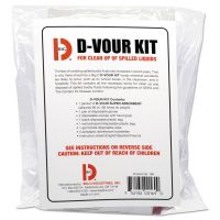 Big D Industries D'vour Clean-up Kit, Powder, All Inclusive Kit, 6/Carton BGD169