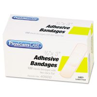 """PhysiciansCare by First Aid Only First Aid Plastic Bandages, 3/4"""" x 3"""", 100/Box ACMG155"""