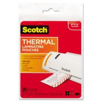 Scotch Index Card Size Thermal Laminating Pouches, 5 mil, 5 3/8 x 3 3/4, 20/Pack MMMTP590220