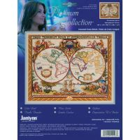 Janlynn Platinum Collection Olde World Map Counted Cross Stitch Kit NOTM265556