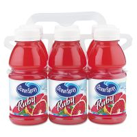 Ocean Spray Red Ruby Grapefruit Juice, 10oz Bottle, 6/Pack OCS00060