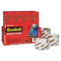 """Scotch Book Repair Tape Multi-Pack, 1 1/2"""" x 15yds, 3"""" Core, Clear, 8/Pack MMM845VP"""