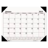 House of Doolittle Recycled One-Color Refillable Monthly Desk Pad Calendar, 22 x 17, 2019 HOD124