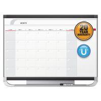 Quartet Prestige 2 Total Erase Monthly Calendar, 48 x 36, Graphite Color Frame QRTCP43P2