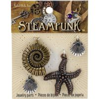 Steampunk Metal Accents 4/Pkg NOTM336077