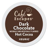 Café Escapes Dark Chocolate Hot Cocoa K-Cups, 24/Box, 4 Box/Carton GMT6802CT