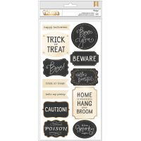 """Midnight Haunting Phrase Thickers Stickers 5.5""""X11"""" 2/Pkg NOTM035608"""