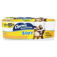Charmin Essentials Soft Toilet Paper, 2-Ply, White, 4 x 3.92 Sheet, 200 Sheets/Roll, 20 Rolls/Pack PGC96609