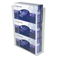 Unimed Wall-Mount Glove Box Holder, 3-Box, Acrylic, Clear, 11 x 3 1/2 x 14 1/2 UMICCG3061282