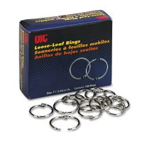 "Officemate Book Rings, 1"", 100/Box OIC99701"