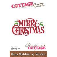CottageCutz Merry Christmas W/Reindeer Die NOTM086112