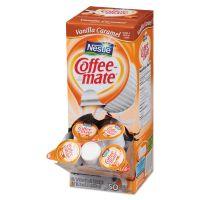 Coffee-mate Vanilla Caramel Creamer, 0.375oz, 50/Box NES79129