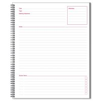 Cambridge Side Bound Guided Business Notebook, Linen, Meeting Notes, 11 x 8 1/4, 80 Sheets MEA06132
