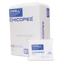 Dwell Healthcare Towels, White, Polyester, 12 x 13, 300/Carton CHI0021