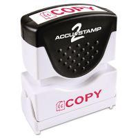 ACCUSTAMP2 Pre-Inked Shutter Stamp, Red, COPY, 1 5/8 x 1/2 COS035594