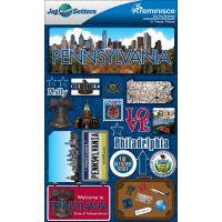 Jet Setters Dimensional Stickers NOTM236342