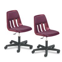 Virco Height-Adjustable Padded Teacher's Chair, 25 x 25 x 28-1/4–33-3/8, Wine VIR9260PGC50