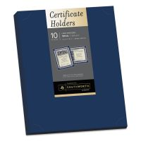 Southworth Certificate Holder, Navy, 105lb Linen Stock, 12 x 9 1/2, 10/Pack SOUPF8