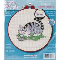 Learn-A-Craft A Cat And A Mouse Needlepoint Kit NOTM256391