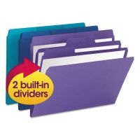 Smead SuperTab Organizer Folder, 1/3 Cut Top Tab, Assorted, 3/Pack SMD11989