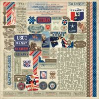 """Heroic Cardstock Stickers 12""""X12"""" NOTM437511"""