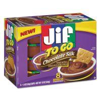Jif To Go Spreads, Chocolate Silk, 1.5 oz Cup, 8/Box SMU24112