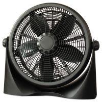 "Alera 16"" Super-Circulation 3-Speed Tilt Fan, Plastic, Black ALEFAN163"