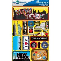 Jet Setters Dimensional Stickers NOTM236329