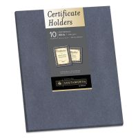 Southworth Certificate Holder, Gray, 105lb Linen Stock, 12 x 9 1/2, 10/Pack SOU98869