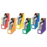 Bankers Box Cardboard Magazine File, 4 1/4 x 11 3/8 x 12 7/8, Assorted, 6/PK FEL3381901