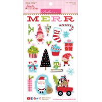Santa Stops Here Chipboard Stickers NOTM058279