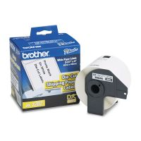 """Brother Die-Cut Shipping Labels, 2-2/5"""" x 3-9/10"""", White, 300/Roll BRTDK1202"""