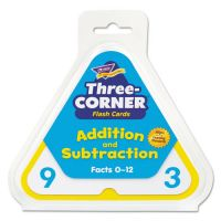 TREND Addition/Subtraction Three-Corner Flash Cards, 6 & Up, 48/Set TEPT1670