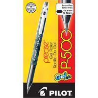 Pilot P-500 Precise Gel Ink Roller Ball Stick Pen, Black Ink, .5mm, Dozen PIL38600