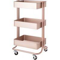 3-Tier Metal Rolling Cart NOTM446152