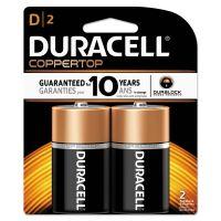 Duracell CopperTop Alkaline Batteries, D, 2/PK DURMN1300B2Z