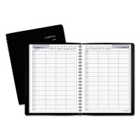 AT-A-GLANCE DayMinder Four-Person Group Daily Appointment Book, 7 7/8 x 11, Black, 2019 AAGG56000